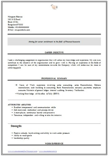 Sample Resume For Freshers It Engineers Resume Net Format On Resume Resume  Format Download Pdf Accounting