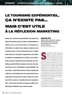 REVUE-ESPACES | Le tourisme expérientiel, ça n'existe pas… mais c'est utile à la réflexion marketing | Le tourisme pour les pros | Scoop.it