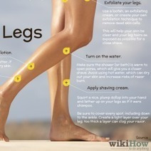 How to Get Smooth Legs: 6 Steps | Visual.ly | Visual Infographics | Scoop.it