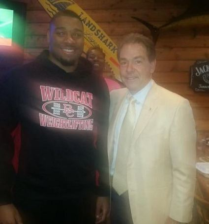 Nick Saban ate gator tail on recruiting visit with CeCe Jefferson - Larry Brown Sports   Baker County, Florida   Scoop.it