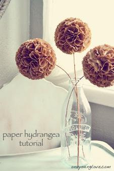 Initiales GG, une fille mais pas que...: DIY : des fleurs d'hortensia en papier | Déco Design | Scoop.it