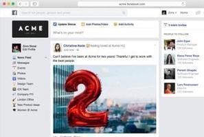 Facebook at Work (FB@Work) : le réseau social d'entreprise de Facebook | Facebook, Twitter, LinkedIn et les autres ... | Scoop.it
