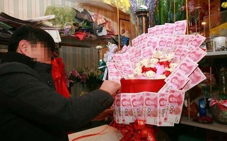 Chinese suitor presents his would-be-bride with bouquet of bank notes - Telegraph.co.uk | wedding music | Scoop.it