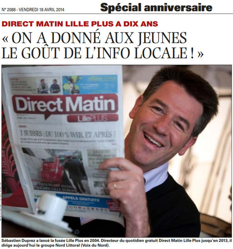 Direct Matin Lille Plus a 10 ans | DocPresseESJ | Scoop.it