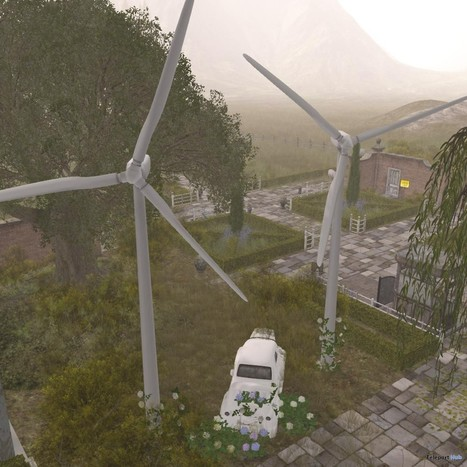 Wind Turbine by Apple Fall | Teleport Hub - Second Life Freebies | Second Life Freebies | Scoop.it
