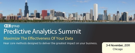 Predictive Analytics Innovation Summit in Chicago (3-4 november) | Business Analytics | Scoop.it