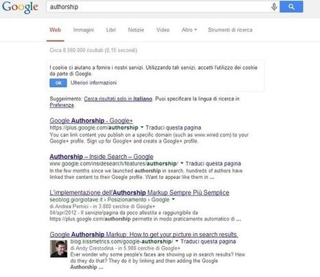 Authorship: sai come funziona e come impostarlo nel tuo blog? | Social media culture | Scoop.it