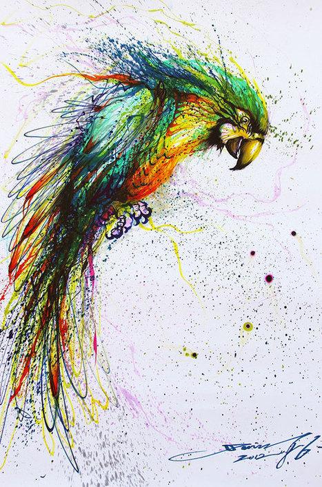 Mind Blowing Color paintings by Hua Tunan | Incredible Snaps | rockstar | Scoop.it