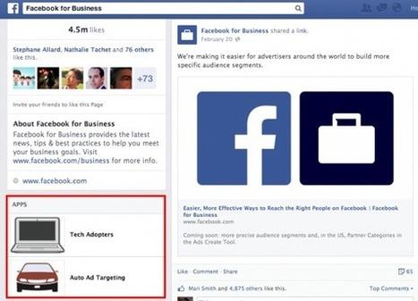 Nouvelle Version des Pages Facebook : les Applications Bien Présentes ! | Emarketinglicious | Social Media Toolbox | Scoop.it
