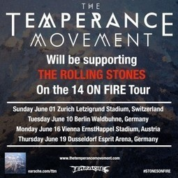 The Temperance Movement to support Rolling Stones on 4 Euro ... | The Temperance Movement | Scoop.it