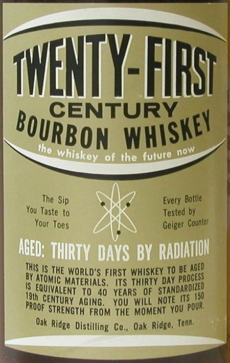 """Frisky Whiskey"": Aged 30 days by radiation 