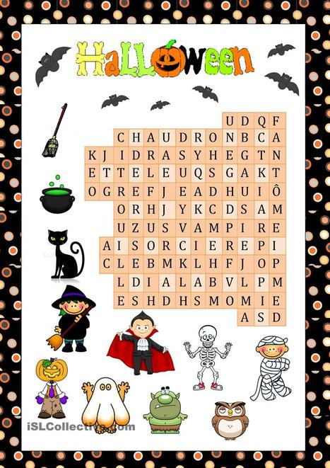 Mots cachés Halloween | FLE enfants | Scoop.it