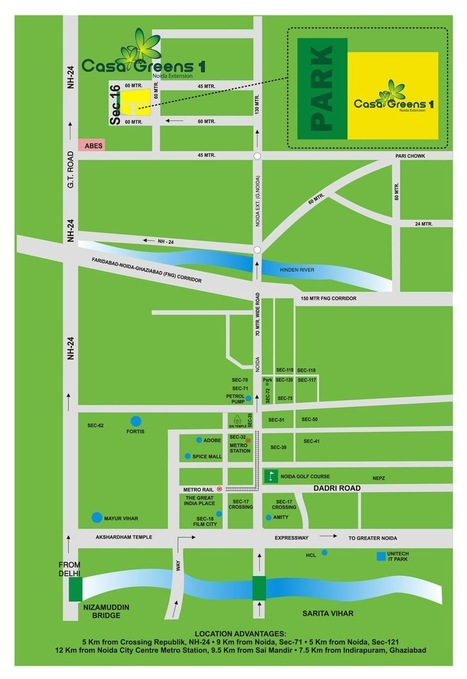 Casa Greens Greater Noida Location Map - Project in Noida Extension | Property in Noida | Scoop.it