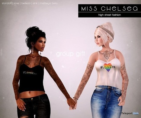 Pride Tank Group Gift by miss chelsea | Teleport Hub - Second Life Freebies | Second Life Freebies | Scoop.it