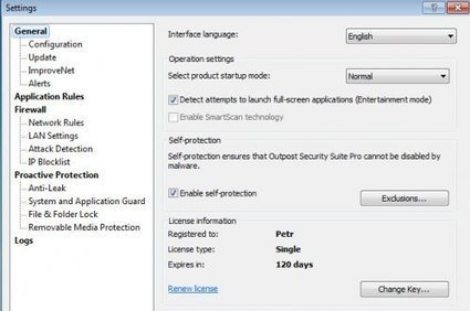 [Giveaway] Outpost Security Suite Pro 8.1 - Free 4 months license key | Free license for you | TH3 Security Soldiers | Scoop.it
