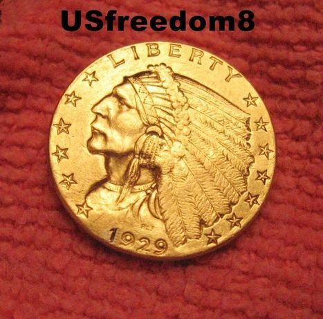 1929 $2.5 Gold Indian Last Year Minted 100% Authentic U.S. Coin | CLOVER ENTERPRISES ''THE ENTERTAINMENT OF CHOICE'' | Scoop.it