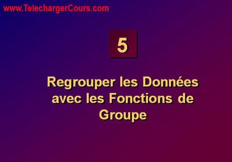 Regrouper les Données avec les Fonctions de Groupe   SQL Oracle   Cours Informatique   Scoop.it