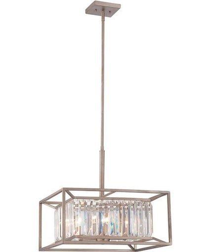 "Designers Fountain 19""w Linares 4-Light Pendant Aged Platinum | Home Decors & Lighting | Scoop.it"