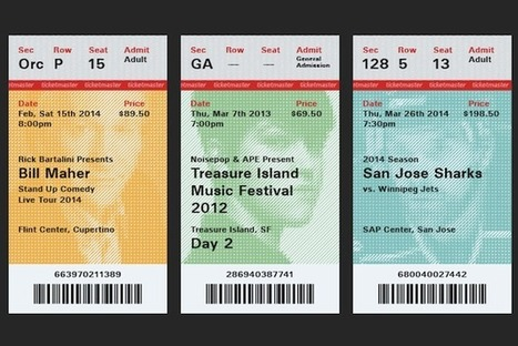 Designer Reimagines Event Tickets As Collectible Souvenirs | Sharing the secret | Scoop.it