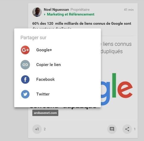 Google+ s'offre un nouveau look et propose le partage des posts sur Facebook et Twitter - Arobasenet.com | Emarketing & Tourisme | Scoop.it