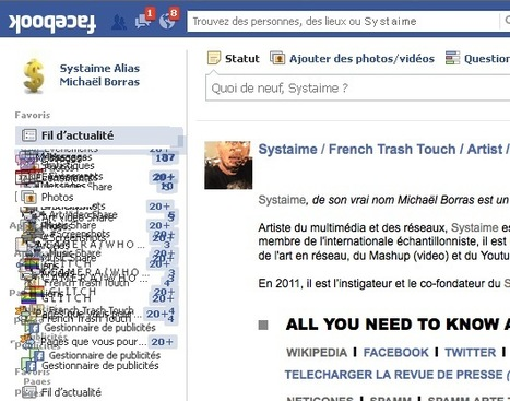 SYSTAIME A.K.A Michael Borras / French Trash Touch / #facebook like homepage | Arts numériques - miam | Scoop.it