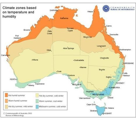 Main Climatic Zones of Australia (temperature and humidity)   Investigating Landforms and Landscapes   Scoop.it