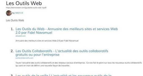 LearnStream. Créer des guides avec vos favoris – Les Outils Tice   TIC, toc, TICE,   Scoop.it