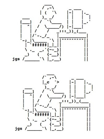 -=[ the 'ultimate' computer system ]=- 2/01 by Joan... | ASCII Art | Scoop.it