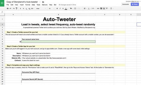 How to build a Google Spreadsheet that auto-tweets your archives | Online Marketing Resources | Scoop.it