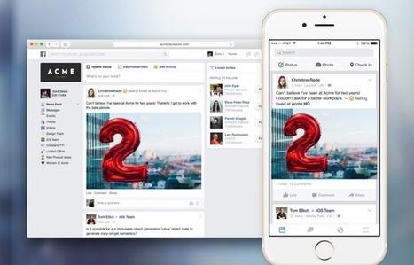 Facebook veut devenir votre réseau social d'entreprise | Le Zinc de Co | Scoop.it