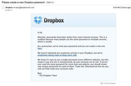 Dropbox confirms it got hacked, will offer two-factor authentication | Leadership Think Tank | Scoop.it