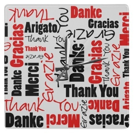 Black and Red Thank You Word Cloud Wall Clock | Z Artwork | Scoop.it