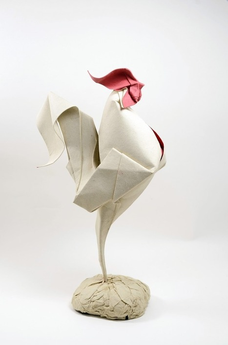 Wet Fold Origami Technique Gives Wavy Personality to Paper Animals by Artist Hoang Tien Quyet | Heron | Scoop.it
