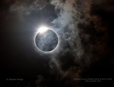 APOD: 2012 November 21 - Diamond Ring and Shadow Bands | Aviation News Feed | Scoop.it