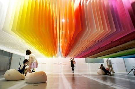 Color as 3-dimensional architectural elements: An art installation by Emmanuelle Moreaux | Communication design | Scoop.it