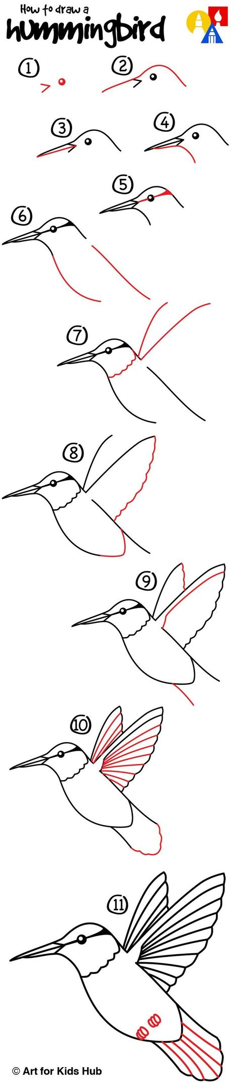 How To Draw A Hummingbird | Drawing and Painting Tutorials | Scoop.it