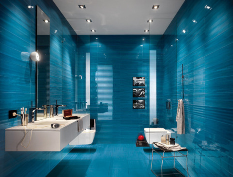 Mix Match the Material and Color of Bathroom Tiles | Home Design | Scoop.it