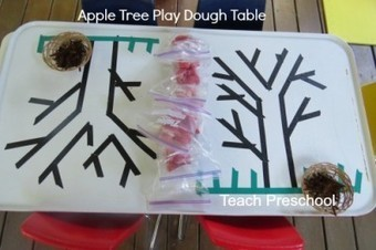 Building fine motor skills at the apple tree play dough table | Teach Preschool | Scoop.it