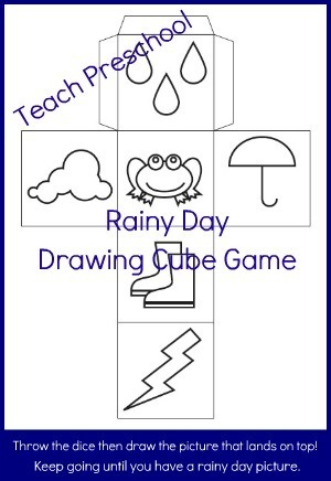Rainy Day Drawing Cube   PreschoolSpot: Education   Teaching   Pre-K   Preschool   Early Childhood   Teach Preschool   Scoop.it