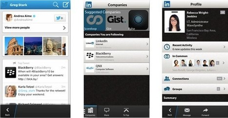 LinkedIn and Twitter updates for BlackBerry 10 focus on search | Extreme Social | Scoop.it