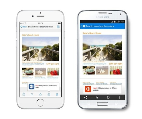 Dropbox's Mobile Apps Are Now Integrated With Microsoft Office | Let's Travel the world | Scoop.it