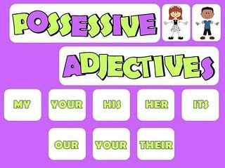 Possessive Adjectives - Ejercicio de repaso | WHO CAN HELP ME? | Scoop.it