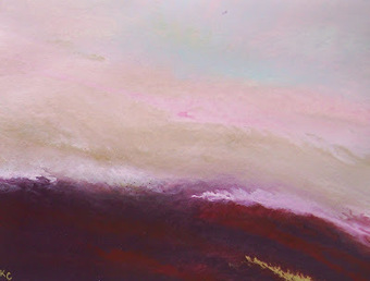 """Kimberly Conrad Contemporary Abstract Art: """"Softly Calling"""" ,11""""x14 ... 