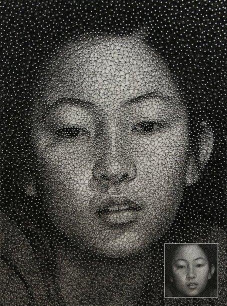 Fait de fils et de clous par Kumi Yamashita | TrendsArt | Scoop.it
