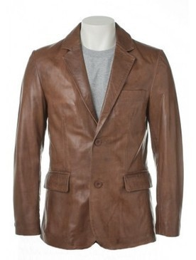 Mens Brown Blazer Leather Coat made from Real Leather | Shopping | Scoop.it