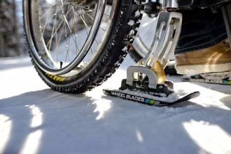 Winter Wheelchair Mobility With Wheelblades | Wheelchairs | Scoop.it