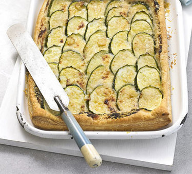 Courgette & Parmesan tart recipe - Recipes - BBC Good Food | Vegetarian and Vegan Diets: | Scoop.it