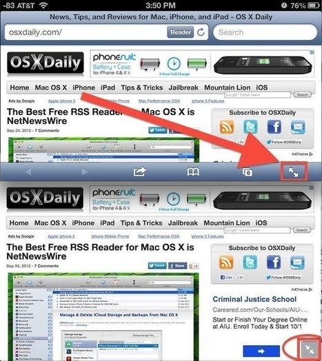 Go Full Screen with Safari to See More While Browsing the Web | OSXDaily | How to Use an iPhone Well | Scoop.it
