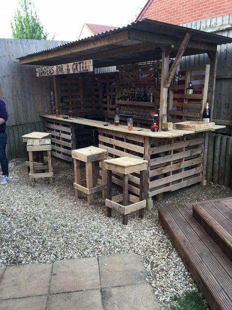 Making the Ultimate Garden Bar   1001 Pallets ideas !   Scoop.it