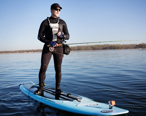 #flyfishing On His Stand-Up Paddleboard, Pierre Champion Reels Them In   jazrom   Scoop.it